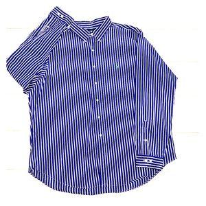Ralph Lauren blue and white l/s shirt